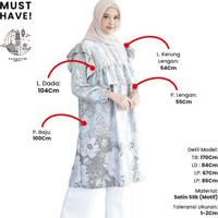 Blouse tunik baju lebaran wanita panjang motif batik etnik muslim cewe