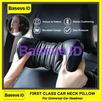 Baseus Bantal Leher Kepala Tidur Jok Kursi Bangku Mobil Car Headrest