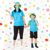 Pop Kidswear Monster Squad Blue Couple Tee - kaos monster series