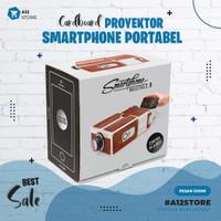 PROYEKTOR MINI / PROYEKTOR SMARTPHONE PORTABEL CARDBOARD