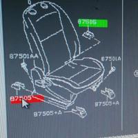 cover seat slide penutup rel slide kursi bagian belakang nissan livina