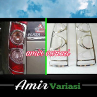 Garnis list cover lampu belakang Avanza /Xenia vvti 2007-2010 chrome