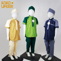 Setelan Koko Anak Laki-laki Baju Muslim Anak Cowok 3-10 tahun
