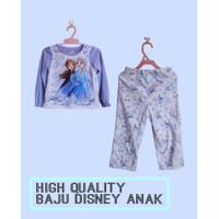 Baju Anak Perempuan Disney Setelan Tidur Anak Frozen Lengan Panjang