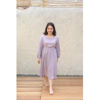Dress Hamil Kim Lilac - Baju menyusui hari raya