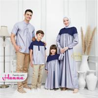 Gamis Wanita Muslim Set Keluarga / Baju set Koko Anak Gamis Anak 2-8th