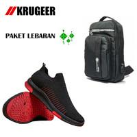 Paket Lebaran Hemat Sepatu Pria KG-002 dan Tas Selempang Pria 9962