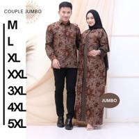 Couple Gamis Batik Jumbo Couple Gamis Batik 5XL Baju Batik Keluarga Ya