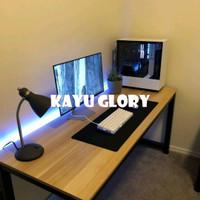 meja komputer meja belajar kantor kayu jati