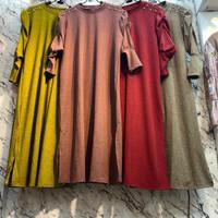 Atasan Tunik Wanita Jumbo Lengan Balon Model Tunik Polos Terbaru 2020 - Mocca