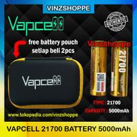 Authentic Battery VAPCELL 21700 - 5000mAh 20A/40A - Baterai