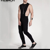 jumpsuit baju pria / fashion overall bodysuit sexy