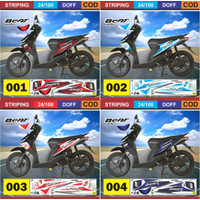 Stiker decal striping Honda Beat karbu Variasi AR