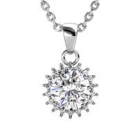 Florale Pendant - Kalung Moissanite diamond GRA Certifiate