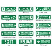 Rambu Jalur Evakuasi - Exit 30cm x 10cm Acrylic
