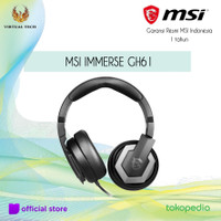 MSI IMMERSE GH61 GAMING Headset Garansi Resmi MSI Indonesia 1 thn