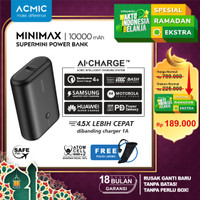 ACMIC MINIMAX SuperMini 10000mAh AiCharge Power Bank (QC4 + PD + VOOC) - Minimax NoKabel