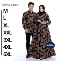 Baju sarimbit gamis sogan batik couple pekalongan murah berkualitas ka
