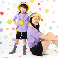 Pop Kidswear Monster Squad Purple Couple Tee - kaos monster series