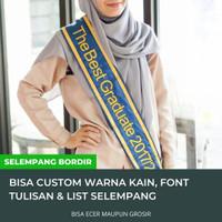 Slempang Wisuda Nama Bordir Bisa Custom Tulisan Selempang Satin
