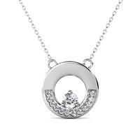 Le Cercle Pendant - Kalung Moissanite diamond Celesta GRA