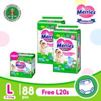 Merries Pants Good Skin L 44S Twinpack Free Gift