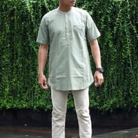 Baju koko kurta pria polos pendek moden modis trendy terlaris
