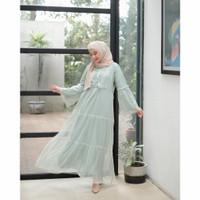 Neyza Tulle Maxi dress baju gamis lebaran wanita muslim murah pesta