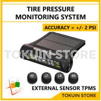 Wireless TPMS Tire Pressure Monitor Pengukur Tekanan Angin Ban Mobil