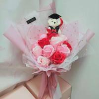 Buket bunga wisuda / kado wisuda Premium