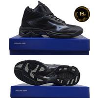 Sepatu Volly Mizuno Wlz 5 Mid Sepatu Voli/badminton pria murah Hitam