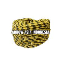 Tiger Rope 3 Strand, Black/Yellow, India, 8mm x 180meter
