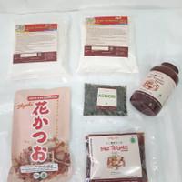 Paket Bahan Okonomiyaki Lengkap Tepung, Saus, Katsuo, Aonori HALAL MUI