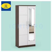 Lemari pakaian baju 2 pintu minimalis ALBA ( cermin panjang )