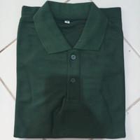 baju kaos polos polo shirt berkerah pria wanita baju lacos -hijau army