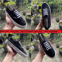 Sepatu Vans Authentic Black/Hitam Waffel ICC - Hitam, 37