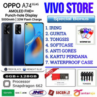 OPPO A74 RAM 6/128 GB GARANSI RESMI OPPO INDONESIA