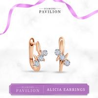 Anting Emas Batu Berlian Alicia Earrings Diamond Pavilion