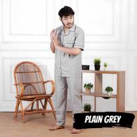 Baju tidur Piyama laki/Pria Dewasa XL Celana Panjang Katun Plain Grey