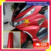 Stiker Skotlet Body Motor Metalik Merah Dop