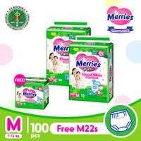Merries Pants Good Skin M 50S Twinpack Free Gift