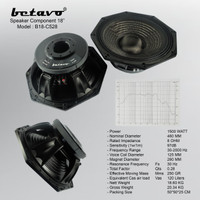 Komponen Speaker BETAVO B18-C528 18 Inch 1500 Watt Original