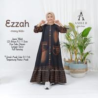 baju anak perempuan muslim usia 9-11 tahun terbaru real pict-ezzah