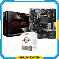 AMD Athlon 3000G Box + Asrock A320M-HDV Paket Processor Motherboard