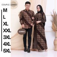 Baju Batik Couple Keluarga Seragaman Pria Wanita Katun Prima Jumbo 5XL