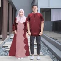 couple santo maroon baju muslim kopel elegant harga sepasang sas at