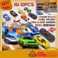 Mainan Anak Mobil Mobilan Balap Diecast Hotwheel Besi Metal isi 10pcs