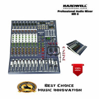 Audio Mixer Hardwell MR 8 / MR8 Bluetooth Soundcard Mp3