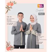 Baju Muslim Nibras Family Sarimbit Keluarga Couple 090 Hitam Terbaru