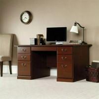 meja kerja kantor 1 biro minimalis 6 laci natural kayu jati jepara